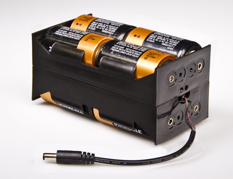 Portable 12v Dc 8 Cell Battery Power Supply Battery And