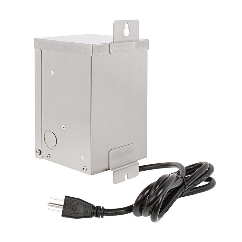 Landscape Lighting Transformer Install : Low voltage transformer watt multi tap landscape