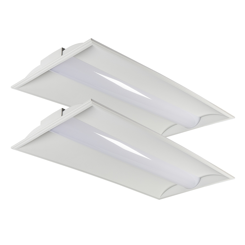 2x4 Led Light Fixtures Dimmable: 2x4 Recessed LED Troffer Light
