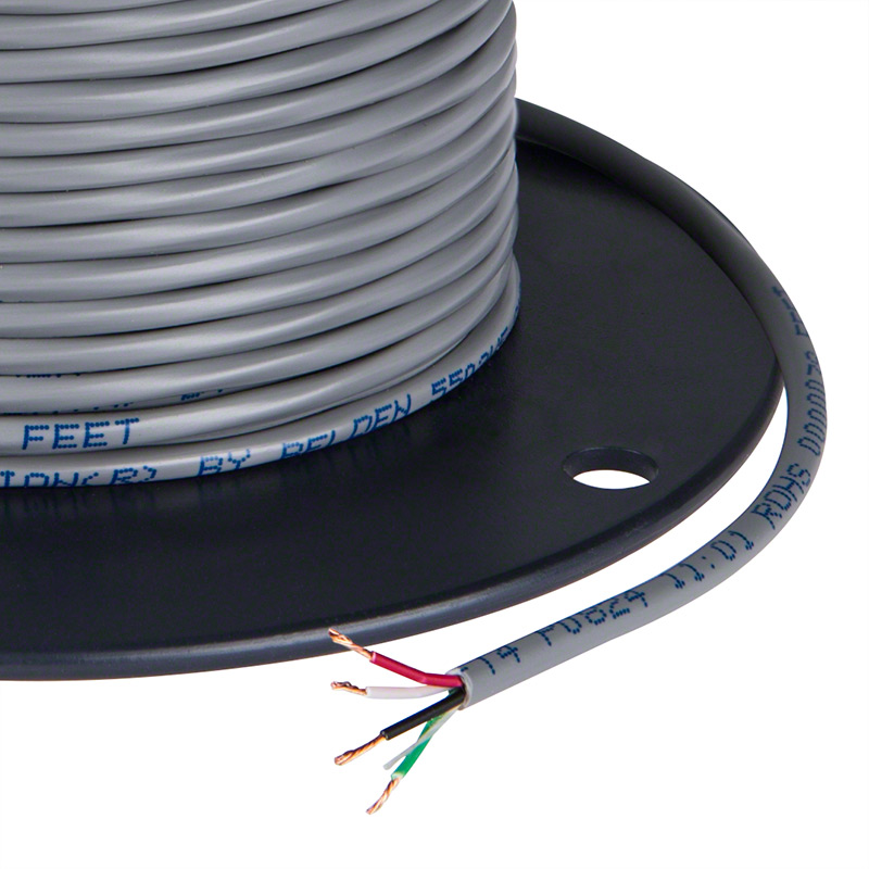 PVC Jacketed 22 Gauge Wire - Four Conductor Power Wire | Super ...