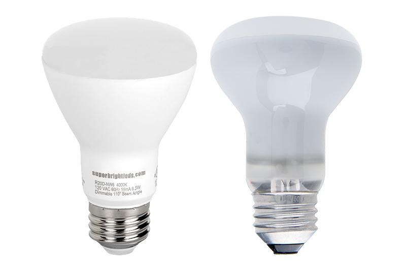 R20 Led Bulb 60 Watt Equivalent Dimmable Led Flood Light Bulb 600 Lumens