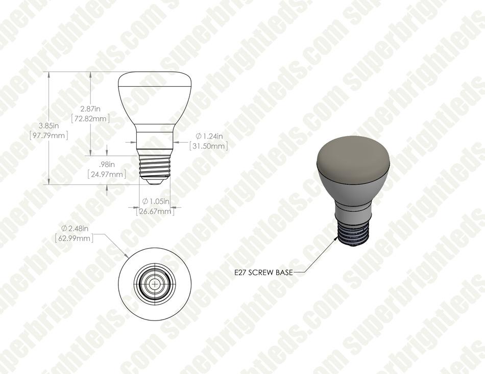 R20 Led Bulb 60 Watt Equivalent Dimmable Led Flood