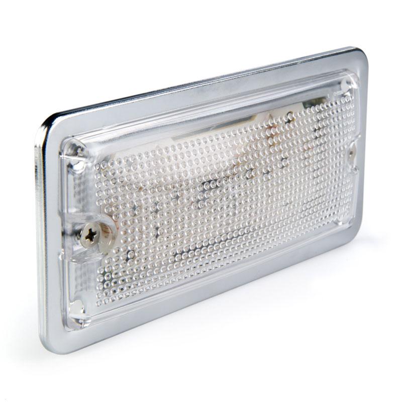Netrectangular Light Fixtures : Rectangle LED Dome Light Fixture w/ 10 High Flux LEDs w ...