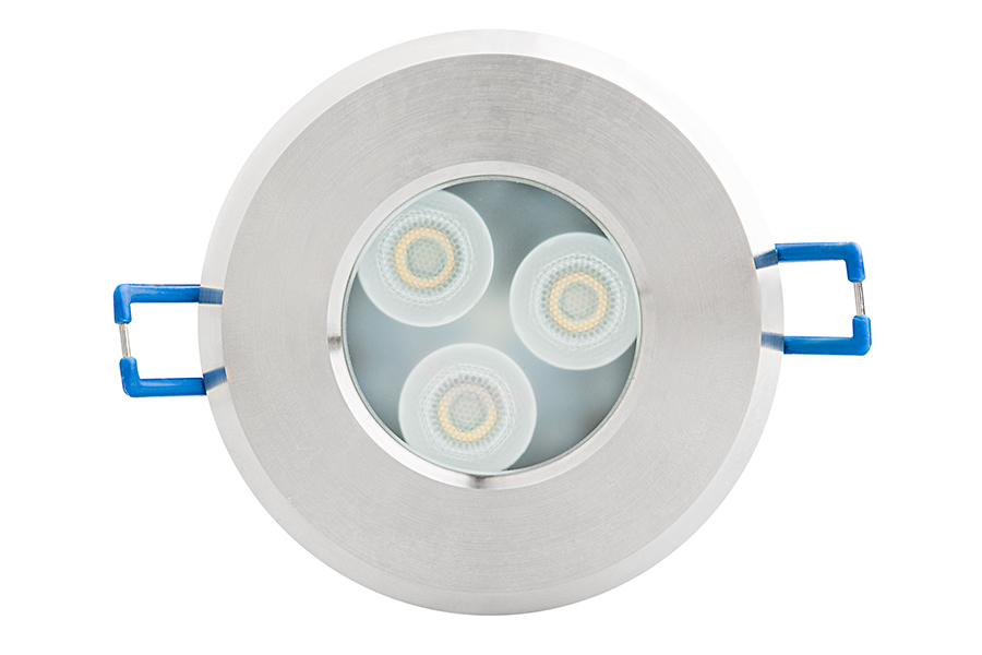 Waterproof recessed led downlight 40 watt equivalent 400 lumens 6 watt recessed led downlight g lux series front view mozeypictures Choice Image