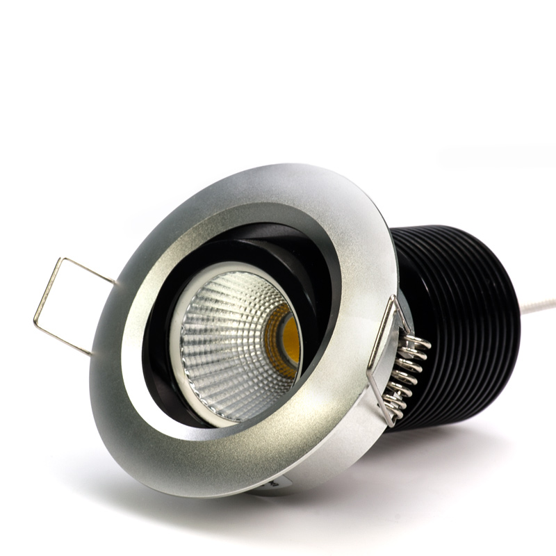 Brightest Recessed Lighting Bulbs : Watt cob led aimable recessed light fixture bridgelux