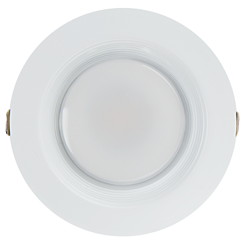 4 recessed led downlight w built in junction box and baffle trim replacement led downlights for 4 fixtures 65 watt equivalent led can light replacement integral junction box 650 lumens front view aloadofball Choice Image