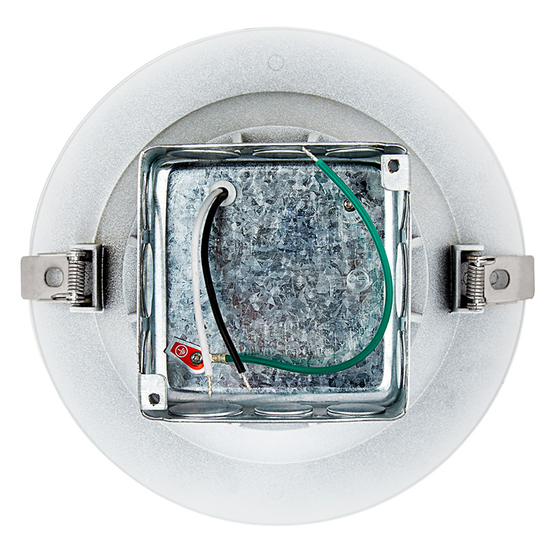8 Recessed Led Downlight W Built In Junction Box And Baffle Trim 190 Watt Equivalent