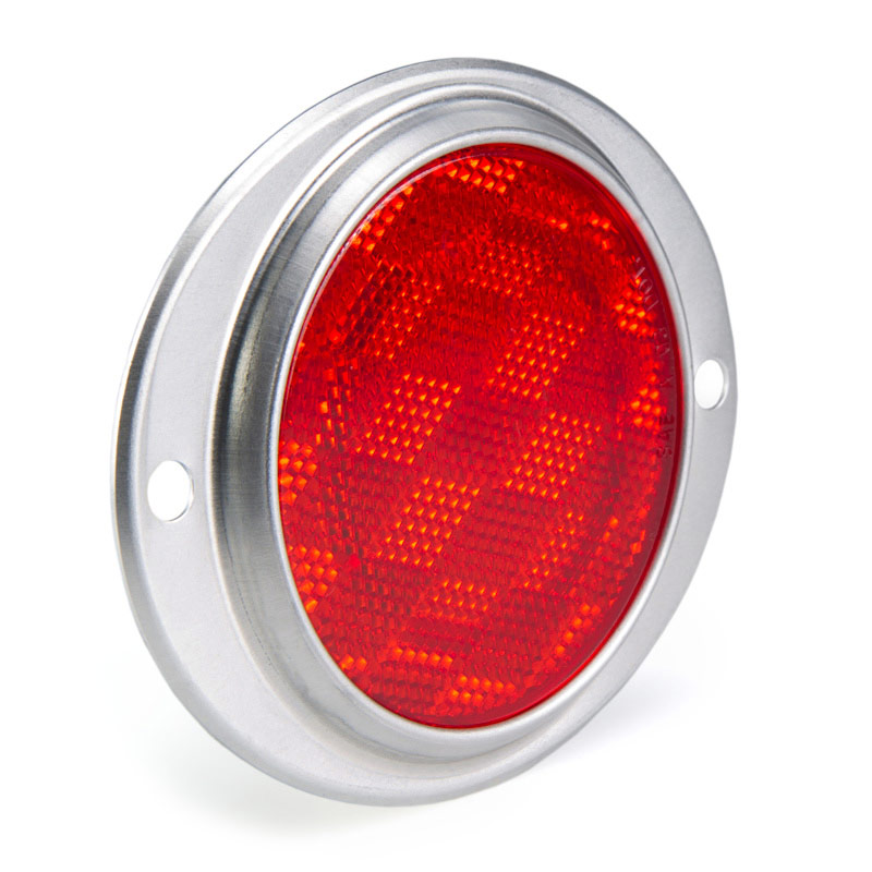 Round Surface Mount Truck Trailer Reflector Super Bright Leds