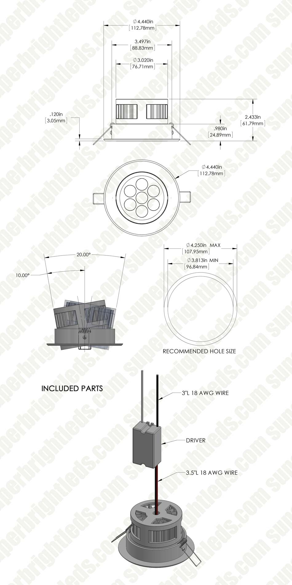 led recessed light fixture - aimable