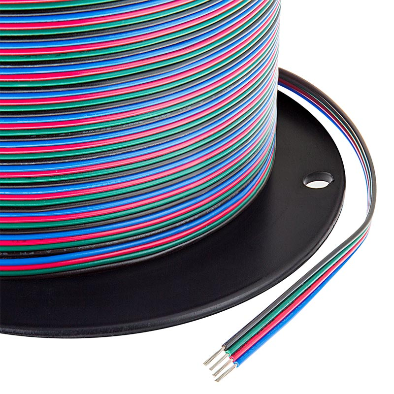 22 Gauge Wire - Four Conductor RGB Power Wire | Super Bright LEDs