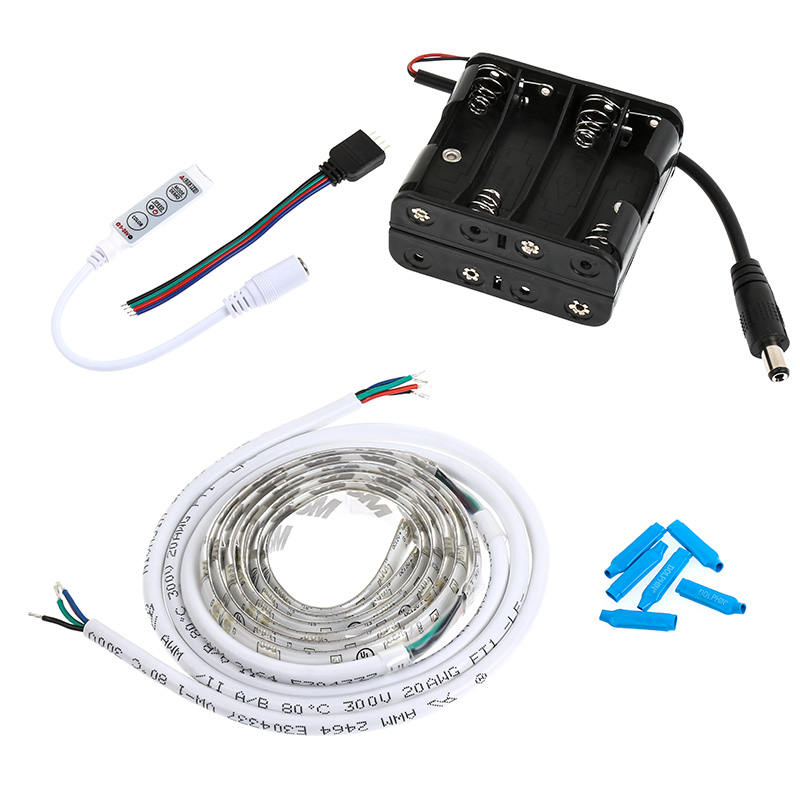 Rgb Battery Powered Led Light Strips Kit Multicolor 2
