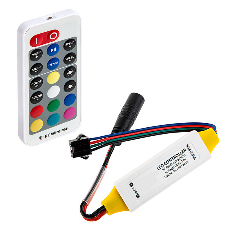 rgb led controller w lc4 connector wireless rf remote w. Black Bedroom Furniture Sets. Home Design Ideas