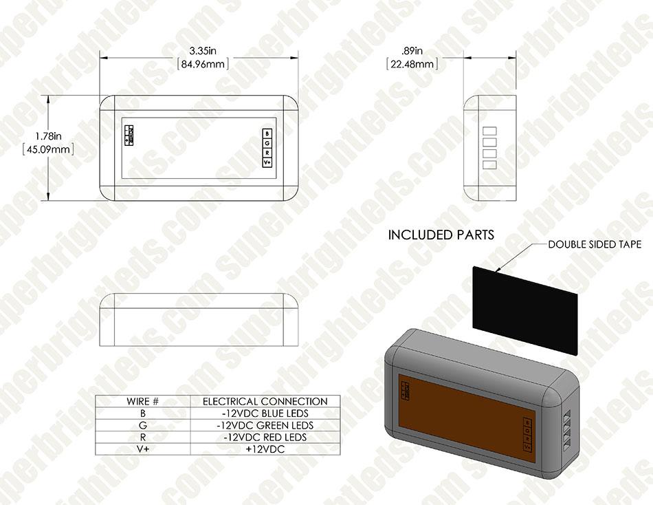 MiLight WiFi Smart Multi Zone RGB Controller - 6 Amps/Channel ...