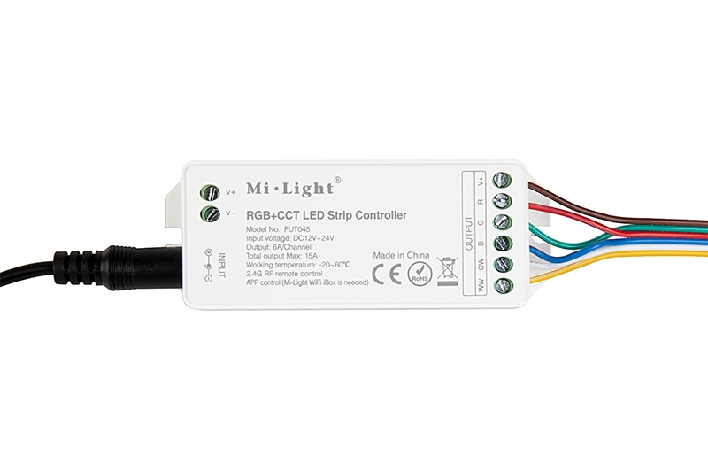 new product 03232 5de81 MiLight RGB+Tunable White LED Controller - Color-Changing/Tunable White -  WiFi/Smartphone Compatible - 6 Amps/Channel