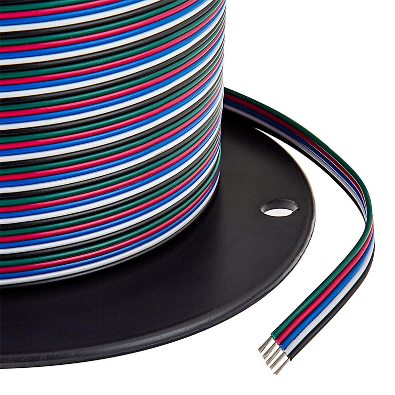 22 Gauge Wire - Five Conductor RGB+W Power Wire | Super Bright LEDs