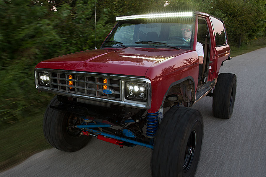50 off road led light bar 144w 17000 lumens super bright leds 50 off road led light bar 144w 17000 lumens attached to customer custom ford bronco aloadofball Images