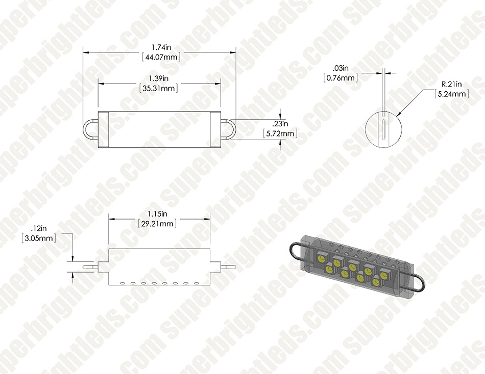 561 LED Bulb - 9 SMD LED Festoon - 44mm