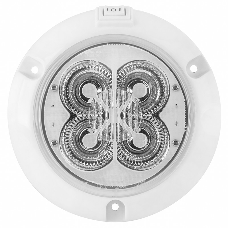 Led Light Fixture With Switch: Round Dome Light LED Fixture With Rocker Switch