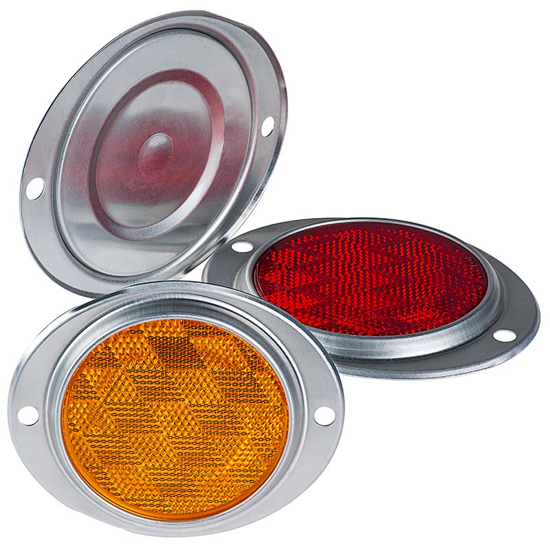 Round Surface Mount Truck Trailer Reflector Reflectors