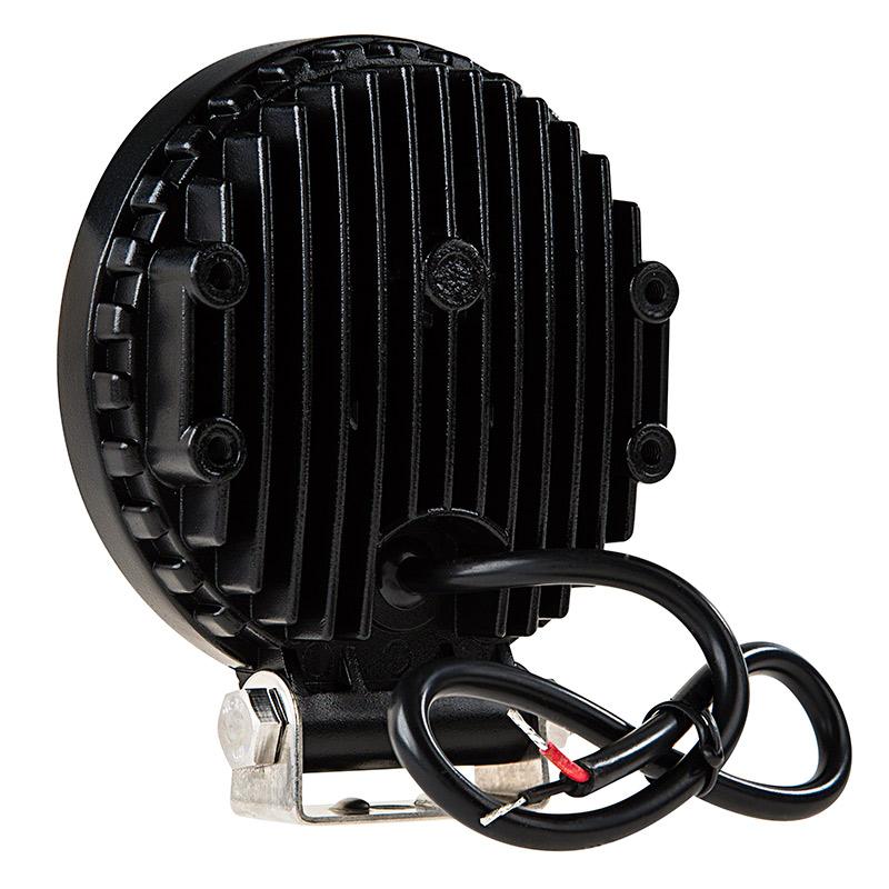 Round Amber LED Vehicle Strobe Light w/ Built-In Controller - 18 Watt