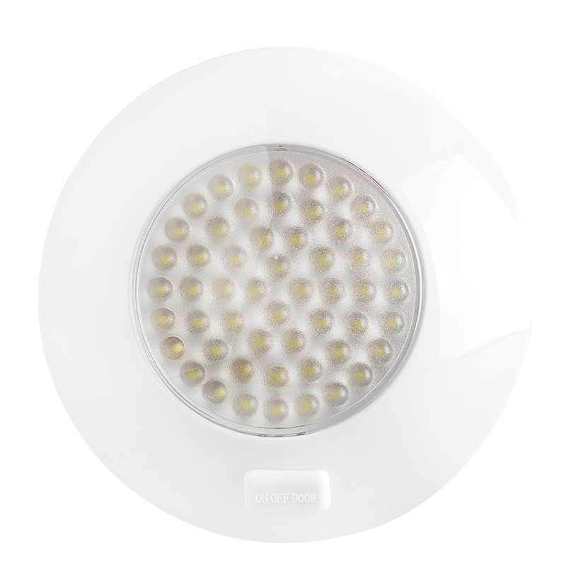 "Led Light Fixture With Switch: 5.5"" Round LED Dome Light And Door Light Fixture W/ Switch"