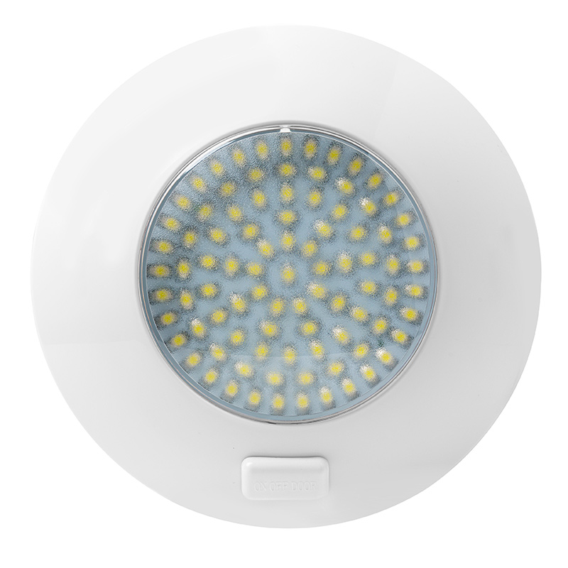 Round Led Dome Light And Door Light Fixture W 91 Leds And