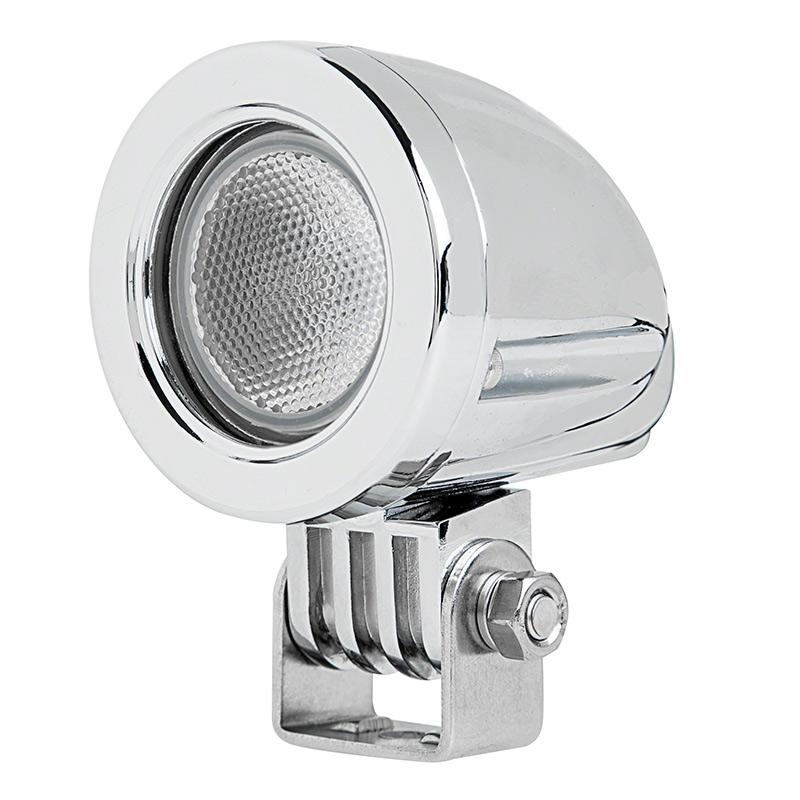 2 round 10 watt led mini auxiliary work light super bright leds. Black Bedroom Furniture Sets. Home Design Ideas