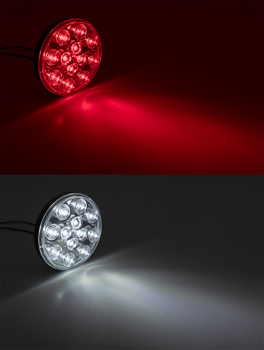 Truck And Trailer Lights : Round led truck and trailer lights brake turn