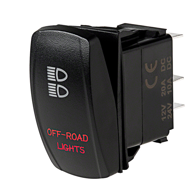 Weatherproof LED Rocker Switch - Off-Road Lights Switch ...