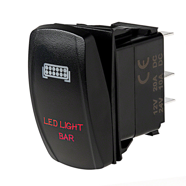 Weatherproof LED Rocker Switch - LED Light Bar Switch | Rectangle ...