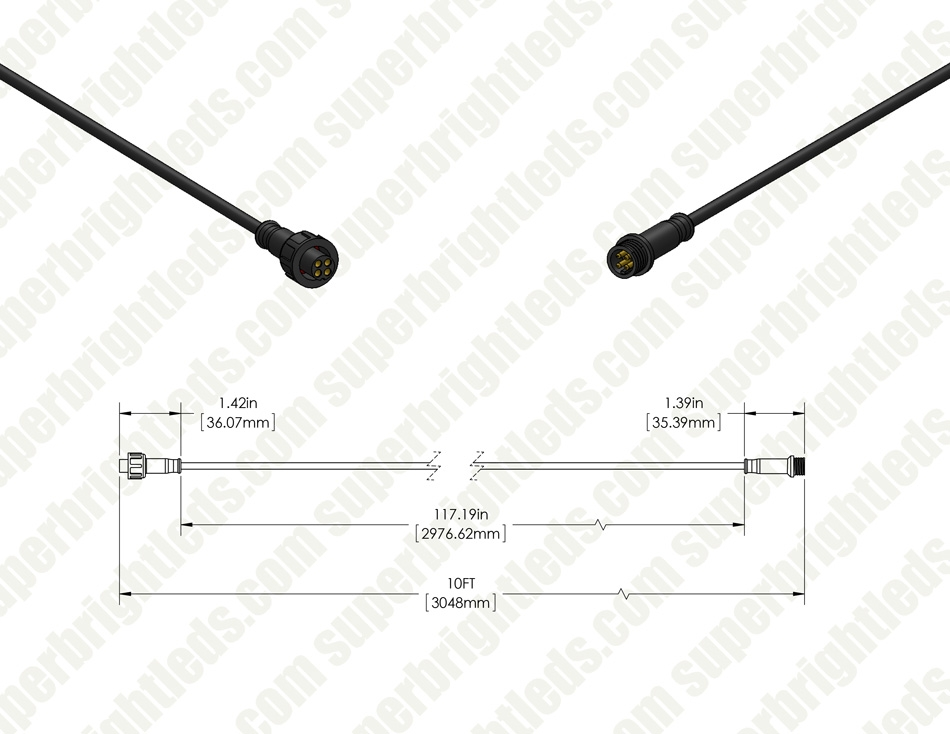 Extension Cable for RGB LED Step/Deck Lights