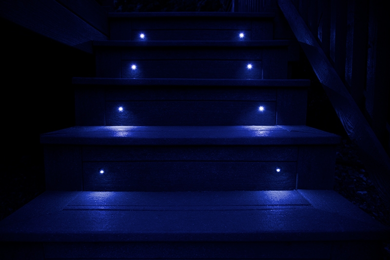 Recessed Rgb Led Step Deck Light 1 Watt Stainless