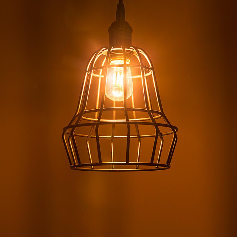 Led Vintage Light Bulb Gold Tint S14 Shape Signage Style Led Bulb With Filament