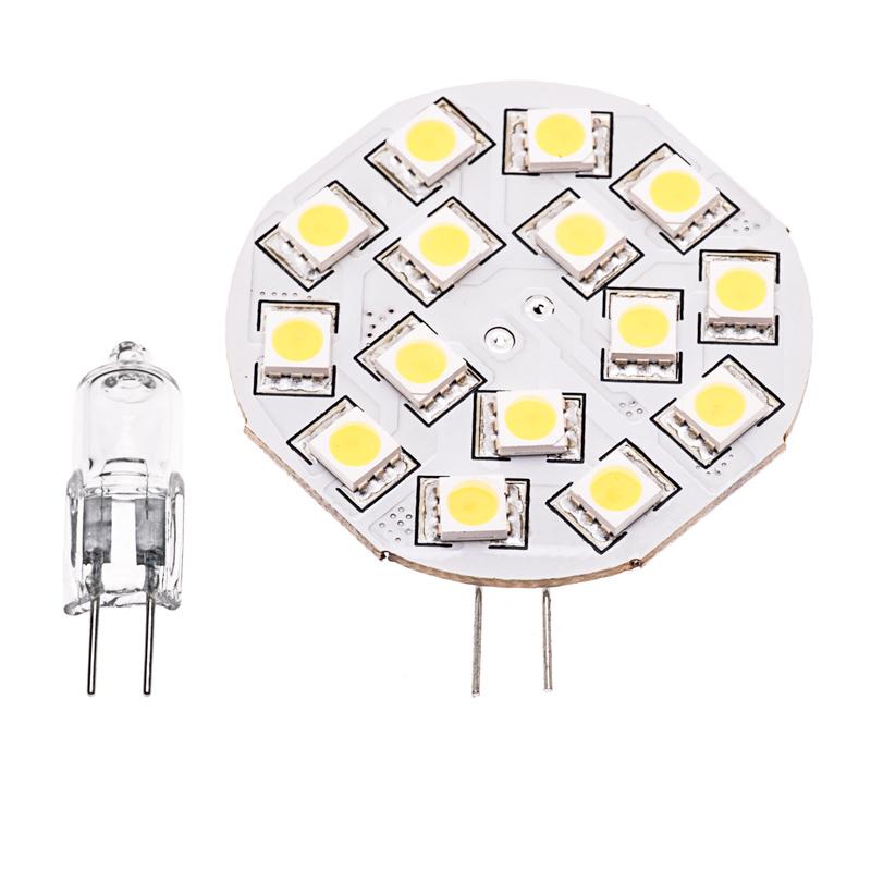 15HP-LED Disc G4 White L& with Incandescent Equivalent Bulb  sc 1 st  Super Bright LEDs & G4 LED Bulb - 2 Watt (25 Watt Equivalent) Bi-Pin LED Disc - Warm ... azcodes.com