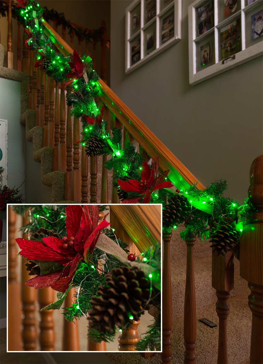 Battery Powered Led Fairy Lights W Silver Wire 13ft