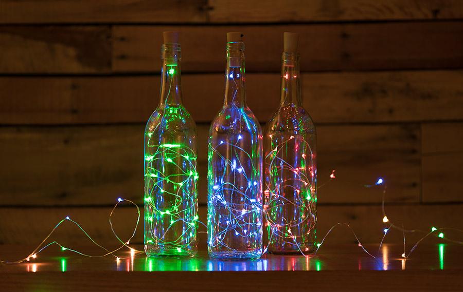 Wine Bottle Led Fairy Lights Cork Shaped Battery
