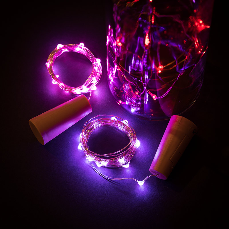 Wine Bottle Led Fairy Lights Cork Shaped Battery