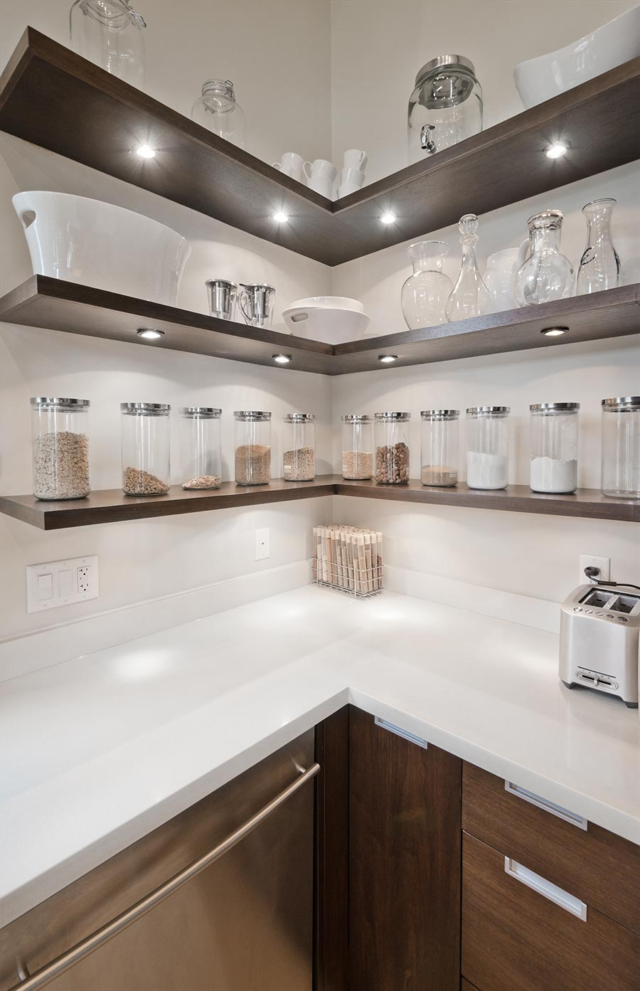 Mini recessed led accent light 10 watt equivalent cool white mini recessed led accent light 1 watt cool white shown installed on kitchen shelves in cool white aloadofball Gallery