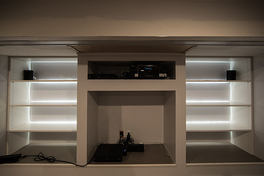 Side Emitting LED Light Strips   LED Tape Light With 18 SMDs/ft., 1 Chip  SMD LED 335 With LC2 Connector: Shown Installed In Shelf System.