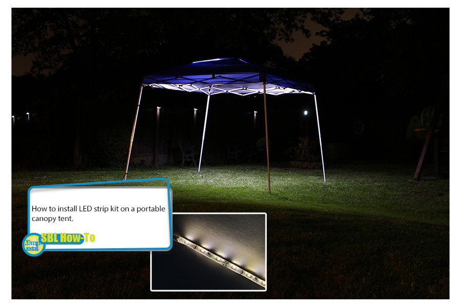 Portable Canopy Tent LED Lighting Kit Photo Gallery Illustrating How To Install LED Strip Kit On Portable Canopy Tent. : ez led lighting - azcodes.com