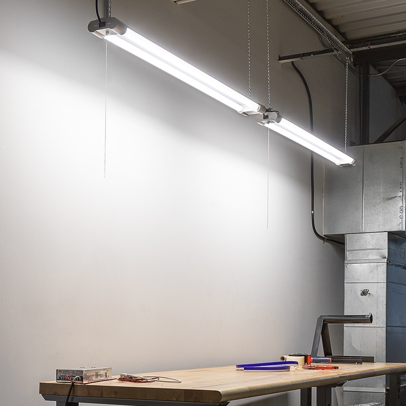 40w Linkable Led Shop Light Garage Light W Pull Chain 4 250