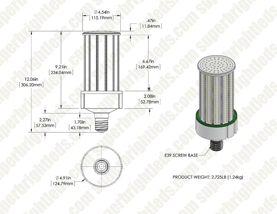 120w led corn bulb - 16 400 lumens
