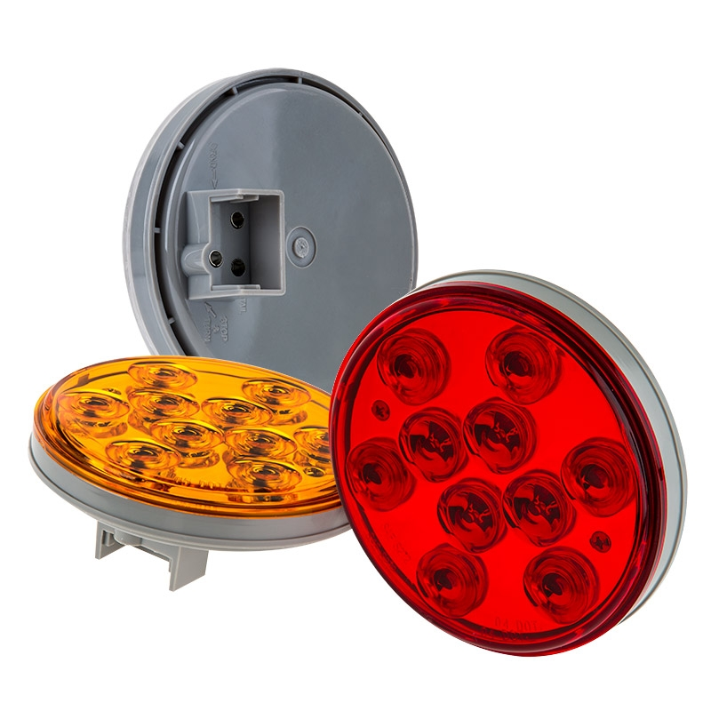 """4/"""" Round Flange Stainless Steel Flush Mount For Standard 4/"""" Stop Tail Turn Light"""