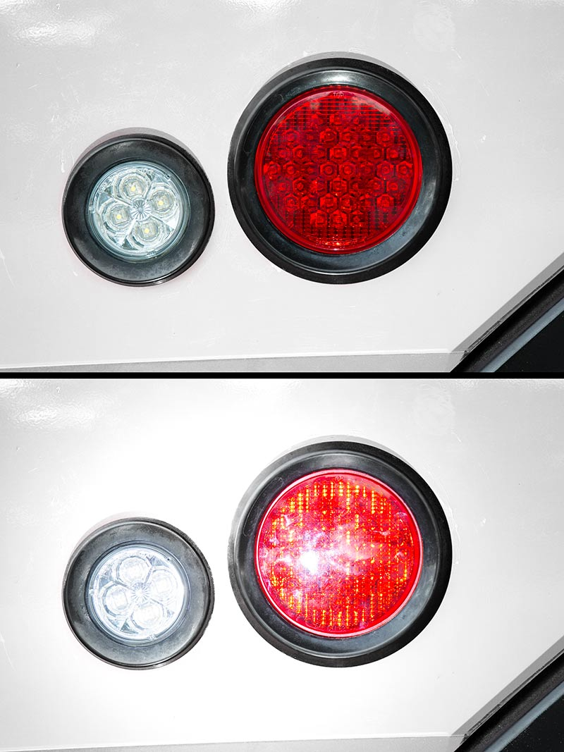 Round led truck and trailer lights w reflector quot