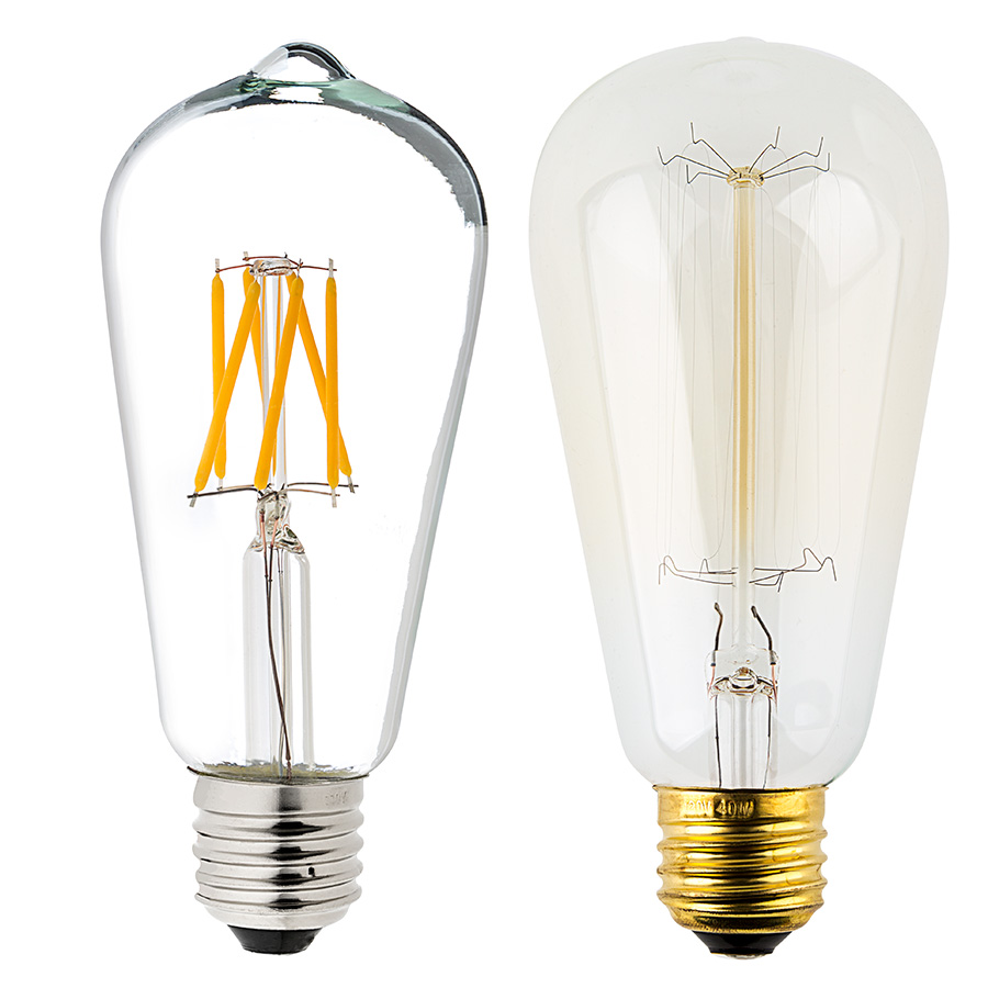 St18 Led Filament Bulb 55 Watt Equivalent Vintage Light Bulb Dimmable 537 Lumens Vintage