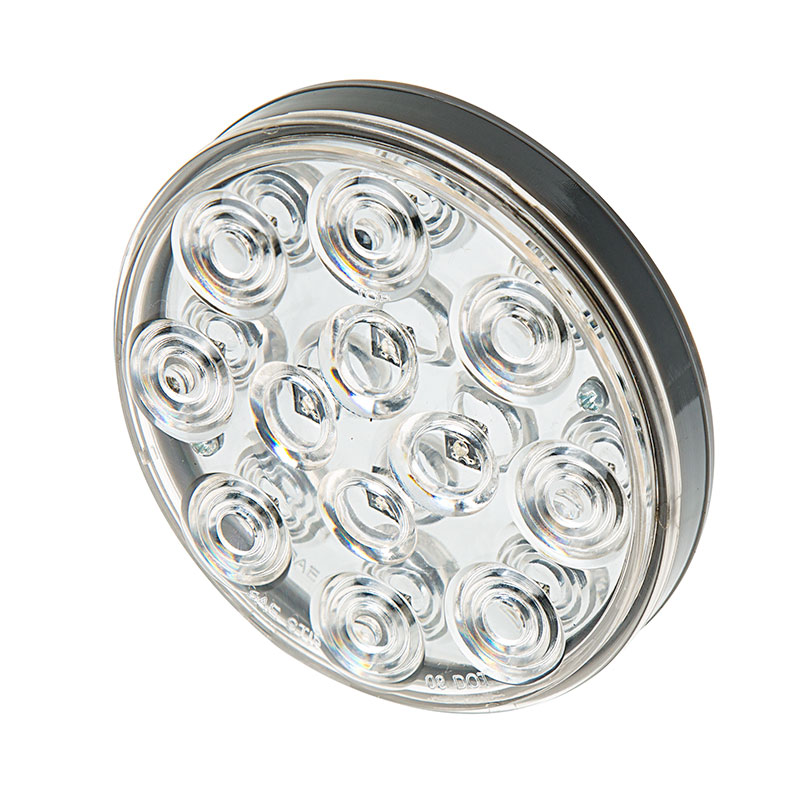 Round LED Truck and Trailer Lights w/ Clear Lens - 4u201d LED Brake/Turn/Tail Lights w/ 12 High Flux LEDs - 3-Pin Connector  sc 1 st  Super Bright LEDs & Round LED Truck and Trailer Lights w/ Clear Lens - 4u201d LED Brake ... azcodes.com