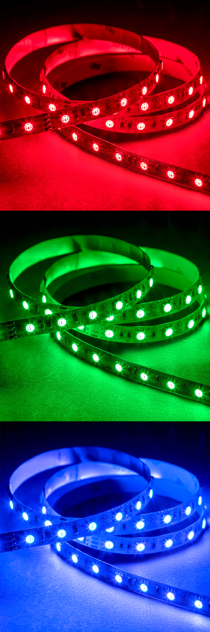 5050 led strip rgb led tape light 24v ip20 18 led ft super bright leds. Black Bedroom Furniture Sets. Home Design Ideas