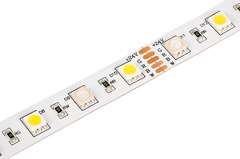 5050 Led Strip Rgb W Led Tape Light 24v Ip20 18led
