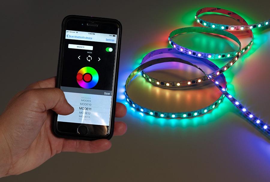 5m Digital Rgb Led Strip Light 18 Leds Ft Addressable Color Chasing Led Tape Light 12v Ip20 Super Bright Leds