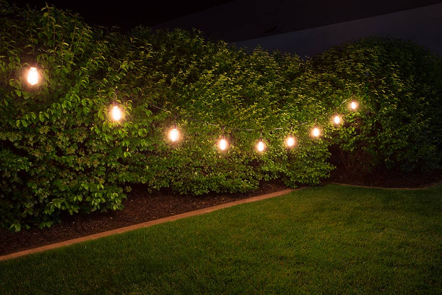 Outdoor LED Decorative String Lights - 10 Pendant Sockets - Fits E26 Bulbs Household Bulb ...